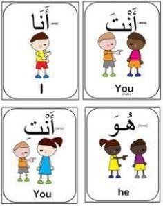 Learning Arabic MSA ( Arabic Pronouns flash cards-(Bundle of 14 flash cards) Arabic Verbs, Arabic Phrases, Arabic Alphabet Letters, Arabic Alphabet For Kids, Learn Arabic Online, Arabic Lessons, Arabic Language, Learning Arabic, Cards