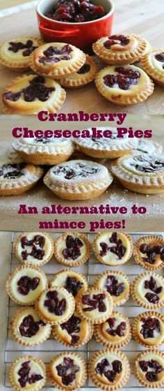 Cranberry Cheesecake Pies - an alternative to mince pies!