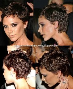victoria beckham short hair back view Short Hair Back View, Short Thin Hair, Short Hair Cuts, Victoria Beckham Short Hair, Celebrity Wedding Hair, Aveda Hair Color, Choppy Hair, Cut Her Hair, Girl Haircuts