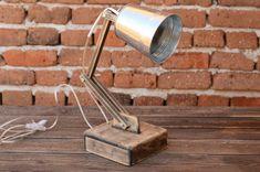 Adjustable lamp Wooden lamp Reading lamp Lampe by WoodRestart