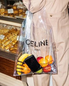 In this edition of weird bags, what do you think of this transparent Celine bag? I love the brand but I'm passing on this. Kit Design, Plastic Shopping Bags, Plastic Bags, Transparent Bag, Clear Bags, Celine Bag, Looks Style, Girls Wear, Winter Trends