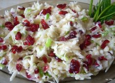 Surówka z selera z żurawiną - Przepis na surówka z sele… na Stylowi.pl Raw Food Recipes, Salad Recipes, Cooking Recipes, Healthy Recipes, Salate Warm, Good Food, Yummy Food, Appetizer Salads, Polish Recipes