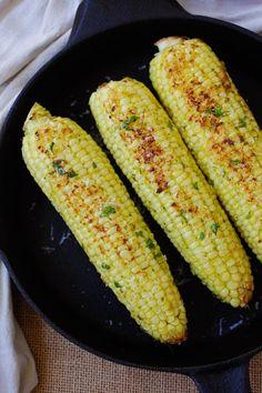 Кукуруза с базиликовым маслом