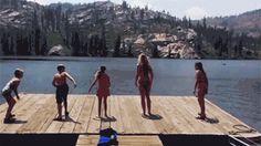 Neulich am See, bei den Dreharbeiten zu Final Destination 6...