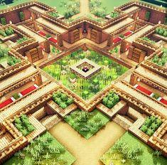Let's build an Underground Oak Base! Casa Medieval Minecraft, Art Minecraft, Minecraft Structures, Minecraft Plans, Minecraft Survival, Minecraft Decorations, Amazing Minecraft, Cool Minecraft Houses, Minecraft Tutorial