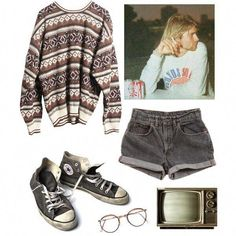 Ideas For Style Inspiration Hipster Jumpers Grunge Outfits, Punk Outfits, Hippie Outfits, Retro Outfits, Outfits For Teens, Cool Outfits, Vintage Outfits, Summer Outfits, Casual Outfits