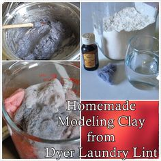 This homemade modeling clay from dyer laundry lint craft project is inexpensive and simply genius. Make sure you like The Homestead Survival on Facebook, S