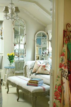 Salvaged windows & doors get a make over as decorative mirrors
