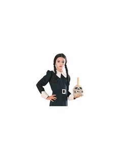 You'll be sure to look just like Wednesday Addams when you supplement your costume with the Wednesday Tm Wig Child! Addams Family Costumes, Creepy Horror, Wednesday Addams, Family Movies, A Comics, Macabre, Little Girls, Wigs, Death