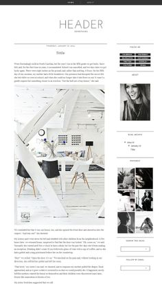 Blogger Template Premade Photography black Blog Design