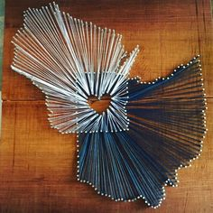 Two State String Art Heart So proud of my first string art project! #DIY #love check out our shop on Etsy! Midwesternmotif https://www.etsy.com/listing/269116456/hand-crafted-nail-and-string-art-fully?ref=shop_home_active_1