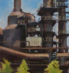 """Steel Mill Section, Bethlehem"" - Original Fine Art for Sale - © Taryn Day  https://www.etsy.com/your/listings/105979364"