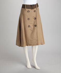 Look at this #zulilyfind! Joy Mark Shearling Button Belted Skirt by Joy Mark #zulilyfinds