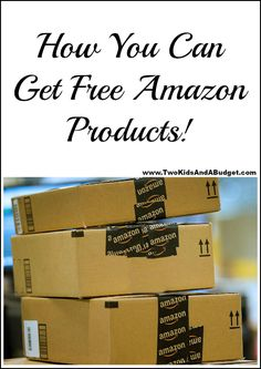 Would you like to get free Amazon products? It's a lot easier then you think & hundreds of people are already trading their opinions for products. You can too! www.TwoKidsAndABudget.com