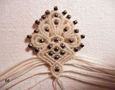 macrame & bead earring - russian tutorial (picture heavy) снежное серебро