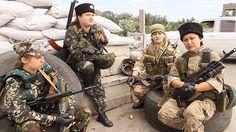 civil war in Ukraine. 2014. Anti-Fascist   The People's Militia