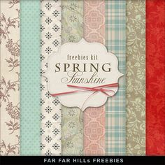 New Freebies Kit - Spring Sunshine:Far Far Hill - Free database of digital illustrations and papers