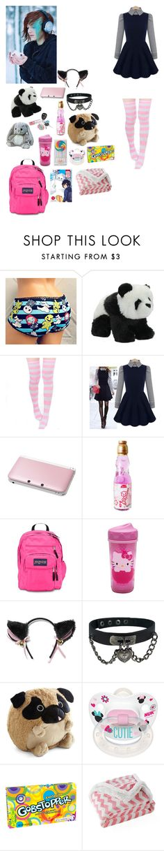 """""""Hanging wif a new fwiend - Nightmare"""" by emo-vampire-nicole ❤ liked on Polyvore featuring Bravo, Nintendo, JanSport, Hello Kitty, Disney, Lala + Bash, women's clothing, women's fashion, women and female"""