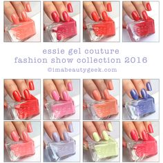 Essie Gel Couture nail polish: Fashion Show collection