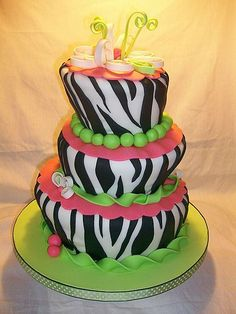 Awesome Zebra Birthday Cakes