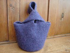 Purple Felted Purse