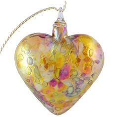 Glass Eye Studio Hand Blown Glass Extra Large Heart Ornament - Generous Heart