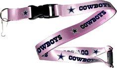 Dallas Cowboys Pink Lanyard Keychain