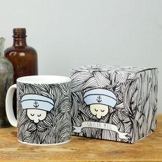 Sailor Mug by MagpieNeon on Etsy