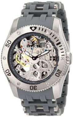 Invicta Men's 1255 Sea Spider Mechanical Skeleton Dial Grey Polyurethane Watch Invicta. $169.64. Flame-fusion crystal; Brushed and polished stainless steel case; Grey polyurethane strap with stainless steel accents. Water-resistant to 50 M (165 feet). Precise Hand-Wind Mechanical movement. 60 second subdial at 9:00. Silver tone skeleton dial with black and white hands; Luminous; Unidirectional stainless steel bezel; Exhibition case back