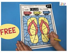 FREEBIE sight word activity - COLOR BY CODE - students love to color by code - addition - subtraction and sight words - perfect kindergarten review activities - last month of kindergarten and kindergarten graduation activities #freekindergartenworksheets #kindergartensightwords