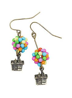 """Adventure is out there. These earrings are a great accessory for the next time you find adventure calling your name. They're design is modeled after Carl's house in <i>Up</i>, beaded balloons and all!<div><ul><li style=""""list-style-position: inside !important; list-style-type: disc !important"""">Man-made materials</li><li style=""""list-style-position: inside !important; list-style-type: disc !important"""">Imported</li></ul></div>"""