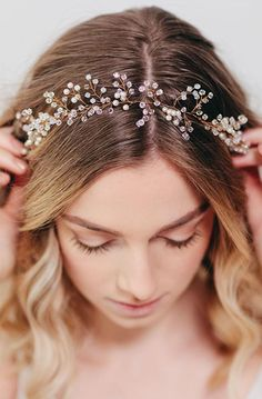Lovely Clusters - Online Curator : Gold Bridal Hair Piece