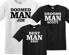Groom Wedding Party T-Shirts for Groom, Groomsmen, Best Man, Customizable add Names or Titles, Bachelor Party Shirt Sets by KidultGifts on Etsy