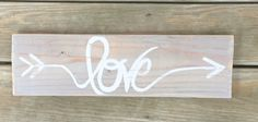 Love Arrow Wood Sign-Rustic-Farmhouse Style by CowtownChicDecor on Etsy