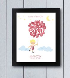 Baby Boy Pyjama Balloon / printable pdf / Baby by RockNPrint