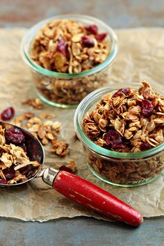 Pumpkin Pie Granola. Rolled oats are flavored with honey, pure maple syrup, and pumpkin pie spice, then tossed with pecans and dried fruit to create a delectable breakfast.