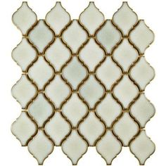 Merola Tile Arabesque Selene 9-7/8 in. x 11-1/8 in. x 6 mm Porcelain Mosaic Floor and Wall Tile-FDXARSL - The Home Depot