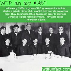 The Poison Squad - WTF fun facts