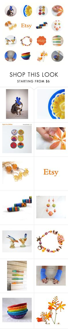 """Colorful Etsy"" by jarmgirl ❤ liked on Polyvore featuring vintage"