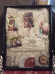 Wedding Dress Shadow Box this would be so awesome for a Christmas gift