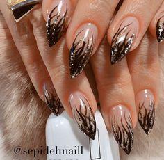 56 gorgeous nail art designs 2019 2 - Hand Nail Design FoR Women Nail Tip Designs, Creative Nail Designs, Creative Nails, Acrylic Nail Designs, Art Designs, Fancy Nails, Cute Nails, Pretty Nails, Elegant Nails