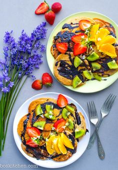 Maca & Cinnamon Buckwheat Pancakes.