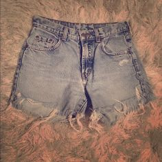 Lucky Brand Vintage Denim Cutoff Shorts Vintage, worn, the type of shorts that become your absolute favorite Lucky Brand Shorts Jean Shorts