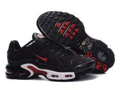 buy online c85f4 130b4 Chaussures de Nike Air Max Tn Requin Femme Noir et Rouge Nike Tn Femme Pas  Cher