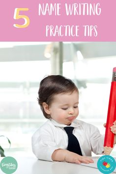 Does your child know how to write his or her name? If not, then you need these fun and easy name writing practice tips. Start with...