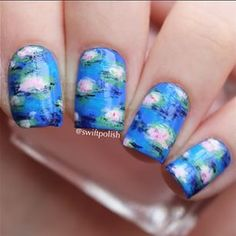 Water lily nails -