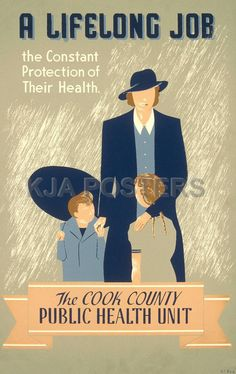 Vintage Health Ads - The Cook County Public Health Unit.
