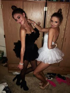 Black and white swan Halloween costume