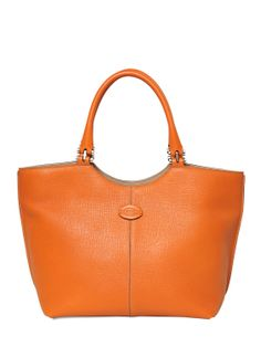 Tod's SS 2014 Collection new logo small leather tote.