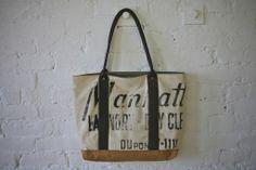 1930s era Cotton & Canvas Carryall